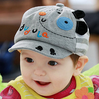 Free shipping spring summer super cute cartoon dog shape cotton baby kids infant topee visors hat baseball cap 1 pc a lot