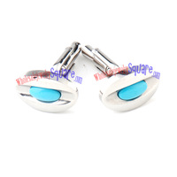 wholesale Charming Blue Eyes Stainless Steel Wholesale Cufflinks