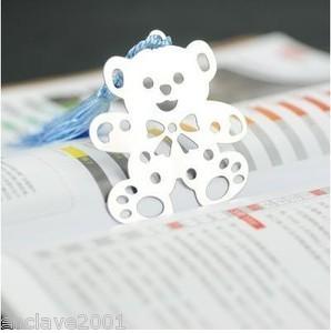Alloy Teddy Bear Style Bookmark Book Marks HQS-G3457