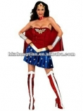 free shipping LICENSED ADULTS WONDER WOMAN COSTUME LADIES SUPERHERO FANCY DRESS