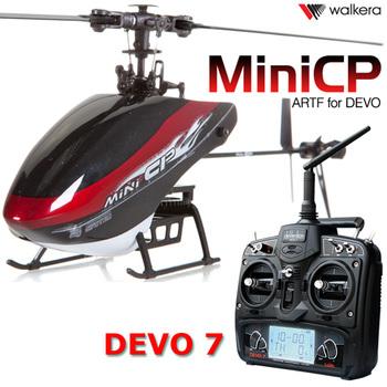 F05110 Walkera Mini CP Flybarless 6 Channels 3D Micro 6CH RC Helicopter RTF W/ Devo 7 Radio controller Transmitter + Freeship