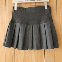 2012 pleated skirt woolen skirt ladies short skirt bust skirt puff skirt all-match elastic