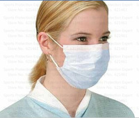 Free shipping Disposable Medical Earloop Respirator Face Non-woven fabric antidust anti-flu Surgical Mask 50pcs/lot