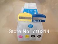 Free shipping printer Reffilable Cartridge for Ep Stylus Pro 9700 (5pcs cartridge+1 cartridge resetter+1 tanks resetter)