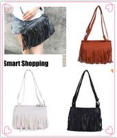 Fashion Fringe Tassel Shoulder Messenger Bag Hand Style Women lady Satchel free shipping 1Pcs/Lot W1244