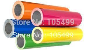 Rolls 50cm x3' Heat Transfer PU Vinyl With Sticky Back 33colors Cutter Press