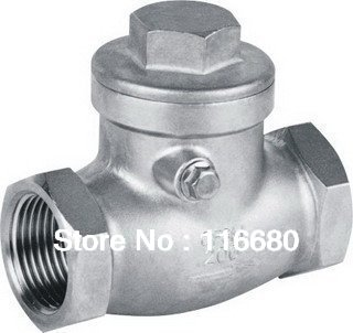 "1"" DN25 swing check valve, SS316, 200WOG, threaded connection(China (Mainland))"