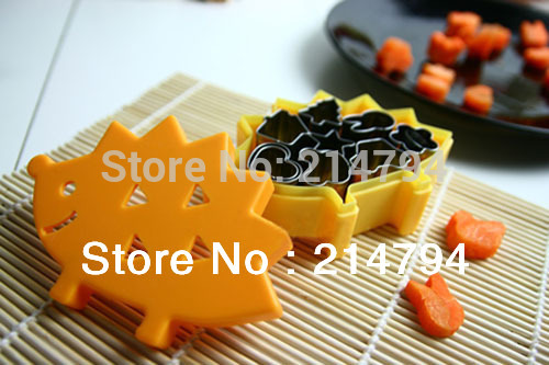 New 2 Sets Stainless Steel Metal Cookie Cake Cutter Mold Carrot Vegetable Dicer Soap Nicer Party Favors For Kids Free Shipping(China (Mainland))