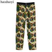 Haoduoyi fashion limited edition mani at for chiffon ankle length trousers pants hm6 full