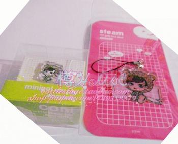 Self-restraint mobile phone bags sleepwear doll charm dust plug