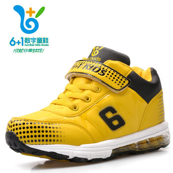 Small child 2013 high basketball shoes sport shoes boys shoes cotton thermal