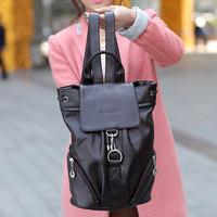 Wpkds woodpecker genuine leather backpack casual backpack student bag school bag travel bag women's handbag