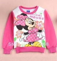 free shipping  2013 new best quality fashion spring  children clothing, mickeys girls Sweatshirts Long-sleeved