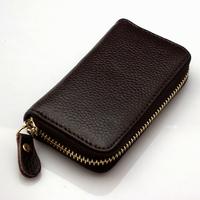 Women genuine leather zipper key wallet cowhide men's auto key bag keychain purse free shipping