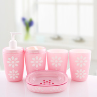 Crystal love bathroom 5pcs 1 set bathroom accessories Soap Dispens+Toothbrush Holders+soap box+tooth cup+Free shipping