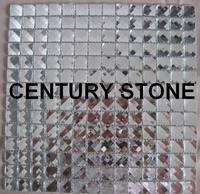 Thirteen facets diamond silver mirror crystal glass mosaic tile