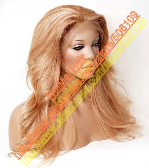 Most Fashionable Human Hair Natural look Lace Front Wig(China (Mainland))