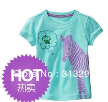 JF36, Zebra, 5pcs/lot (Size 18m.24m.3T.4T.5T) Children T shirt, Baby Tee, 100% Cotton short sleeve T shirt for 18M - 5 year(China (Mainland))