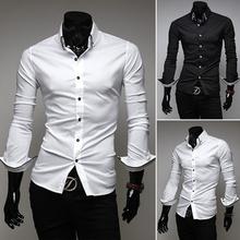 Envío Gratis 2013 nuevo de la moda camisas para hombre , negocio clásico , camisas delgadas de la manga vestido cabe elegante de largo, 5006(China (Mainland))