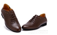 Free shipping 2012 New fashion formal wear business shoes, men's casual leather shoes shoes three color