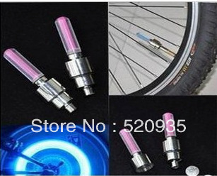 4 colors on sale LED Flash Tyre Wheel Valve Cap Light 2013 brand new Bicycle Colorful flashing lamp,LED bicycle gas nozzle light(China (Mainland))