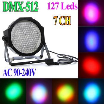 Professional AC 90-240V 127 RGB LED Effect Light DMX512 7 Channel Par Lights DMX 512 Disco DJ Party Stage Light EU Or US Plug
