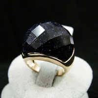 18k gold plated women jewelry Purple stone exaggerated ring   09538500360680aa  fashion 2013