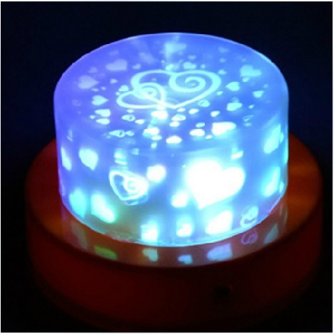 strange new creative energy saving lamps cake projection romantic starry sky - love electronic colorful small night lights(China (Mainland))
