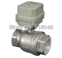 3 wires two way electric actuator valve DC12V/DC24V  2'' SS304 full port  valve for water heating water treatment equipment