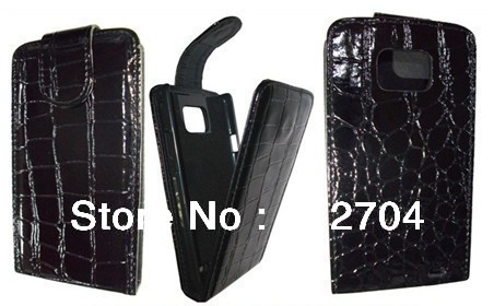 For Galaxy S2 I9100 magnetic enclosure Wallet Flip case,Crocodile skin Cover for Smart Phone,PU belt clip holster pouch(China (Mainland))