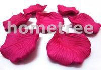 Lot 1000pcs Fuchsia Rose Petals Silk Flowers Home Garden Wedding Birthday Party Decorations Free Shipping