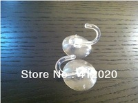 Free shipping 50Pcs/lot 4cm diameter transparent pvc glass Soft Plastic Strong Suction Cup Capsule With Hook Sucker