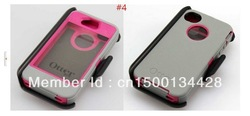 New arrival otterers case for apple iphone 4 4s,With black clip, Box package 10PCS /lot Free Shipping(China (Mainland))