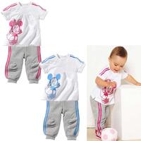 wholesale 5set/lot baby short sleeve 2pcs set summer clothes,chldren sport suit ,boy gril classic suit ,casual suit