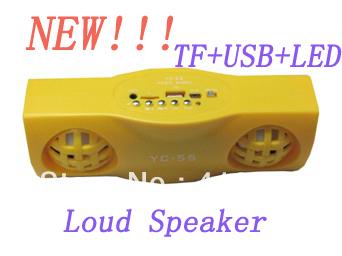 2013 The Latest Mini Portable FM Radio with Stereo Speaker/Digital Display/USB/TF Card/U Disk/LED Light Wholesale Free shipping
