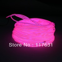 EL Wire - 18m - 2.3mm - Pink - AC/DC Adapter