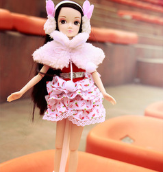 Chinese Doll,29cm,Gothic Lolita Belt Cover Clothes Joint Dolls For Girl Birthday Gifts(China (Mainland))