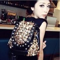 2013 bucket vintage drawstring button bag one shoulder double sided dual-use package women's bag