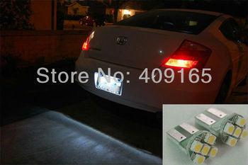 wholesale 10pcs/lot White LED LICENSE PLATE TAG BULB LIGHT LIGHTS T10 921 161 168 194 2825 w5w