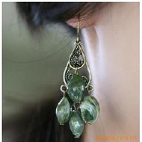 Free shipping new fashion vintage retro antique bronze Bohemian tassel drop earrings lady jewelry