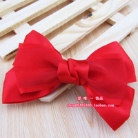 The bride red bow hair accessory married cheongsam hair accessory formal dress hair accessory bridal accessories