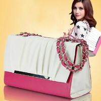 Free shipping-2013 women's handbag fashion color block chain sweet candy women's shoulder cross-body bag