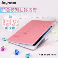 For ipad   mini protective case  for apple   ipad mini rhinestone holsteins mini ultra-thin protective case