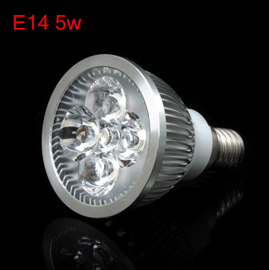 Wholesale - 2013 Newest+500LM 5W E14 Led Spotlight Bulb Cool White 85-265V Led Light Lamp Free Shipping(China (Mainland))