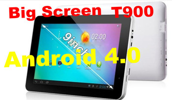 2PCS/LOT 9'' Allwinner A13 Android 4.0 Capacitive Screen 512M 8GB Camera WIFI Tablet PC T900 DHL freeshipping