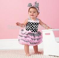 Wholesale-Free Shipment 3pcs/lot baby girl flower dress,baby cake dress for summer