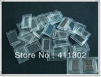 Free shipping 100pcs/lot  1 gram plastic airtight bullion bar holders