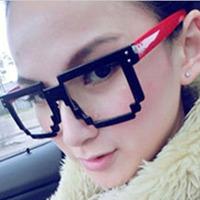 Мода равнина четкие линзы очки красные Мужские женские ретро ретро очки новый бамбук / деревянные фоторамки 5шт/лот