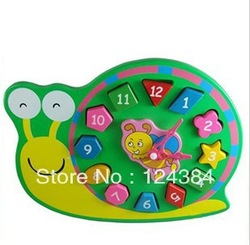 Early childhood clock building digital cognitive shape matching toy(China (Mainland))