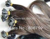 "1g/s 18"" 20"" 22"" 24"" Indian remy fusion Keratin nail U tip hair extension #4 dark brown color 100gram/pack"